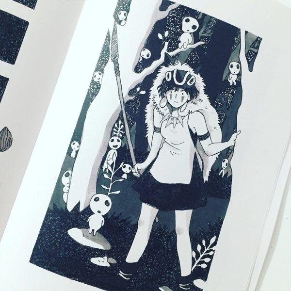 Princesa Mononoke de Inktober 2018 de Ana Oncina (Autoedición)
