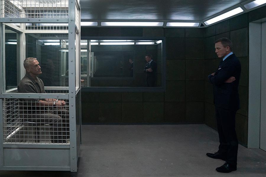 Christoph Waltz y Daniel Craig en Sin tiempo para morir