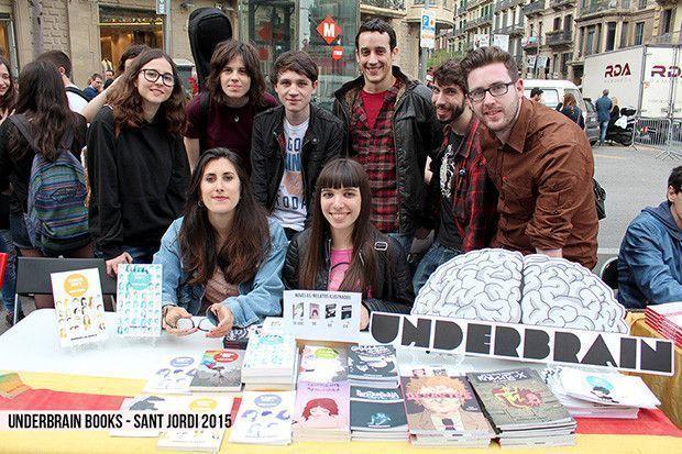 Underbrain-books Sant Jordi 2015 - foto grupal con Vloggers