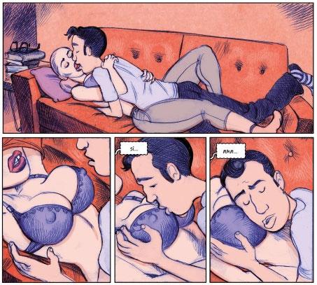 Viñetas del cómic Adicto al amor