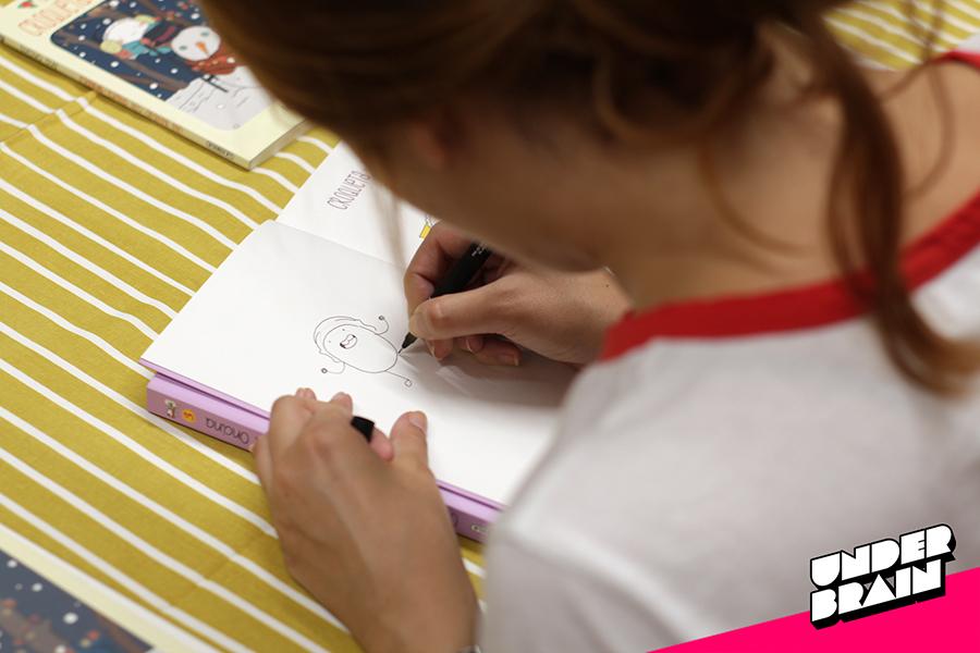 Ana Oncina dibujando a Croqueta