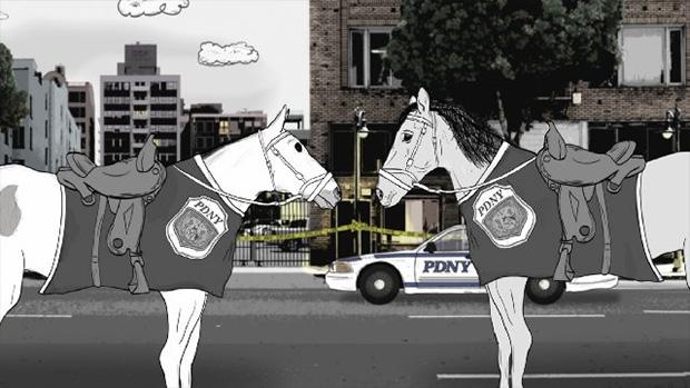 Los caballos también son protagonistas en la serie Animals