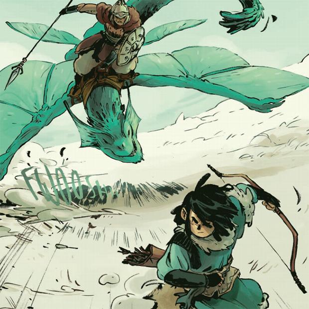 Viñeta de Ari, cazador de dragones