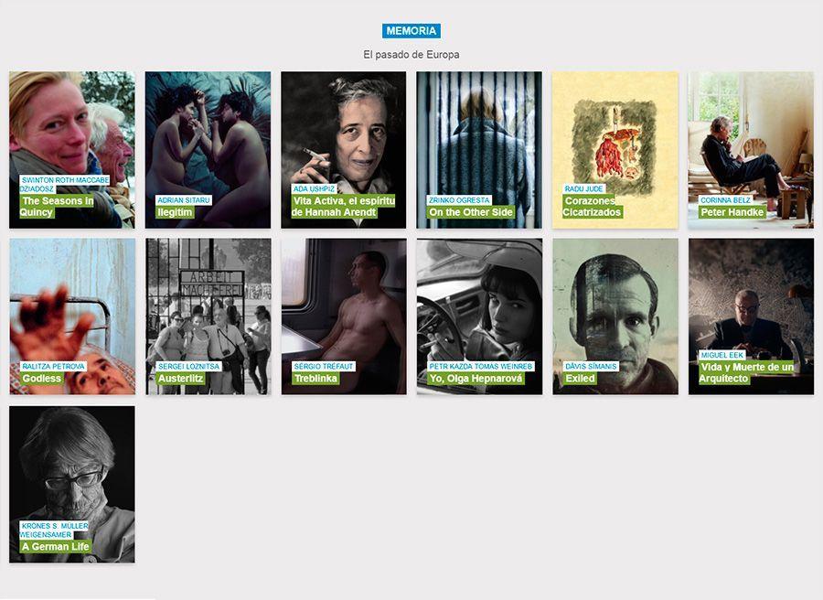 Atlántida Film Fest sección Memoria