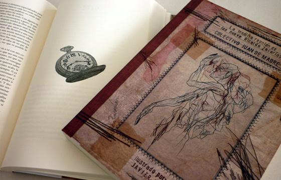 fotografía del libro con ilustración de Javier Jubera