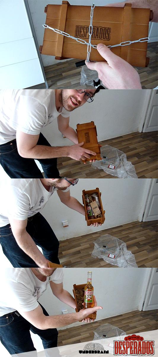 Abriendo la caja de Desperados