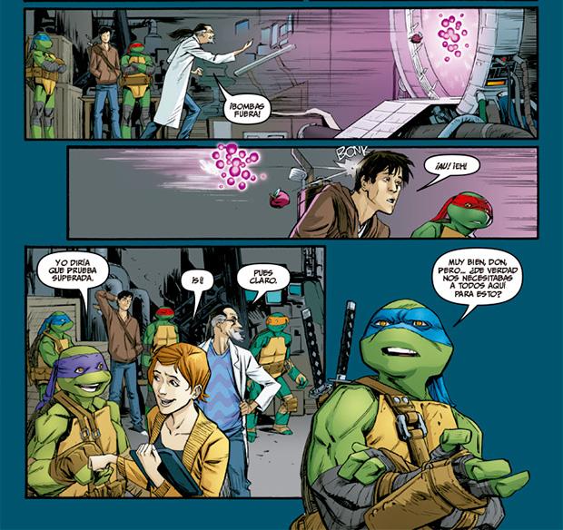 Tortugas ninja inventan un transportador