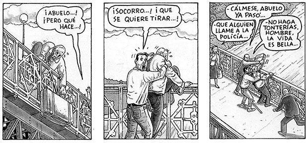Algunas viñetas de la primera edición de El arte de volar