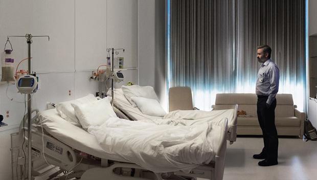 Colin Farrell en el hospital