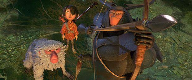 El trio protagonista de Kubo y las dos cuerdas mágicas