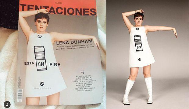 Lena Dunham llama la atención a Tentaciones