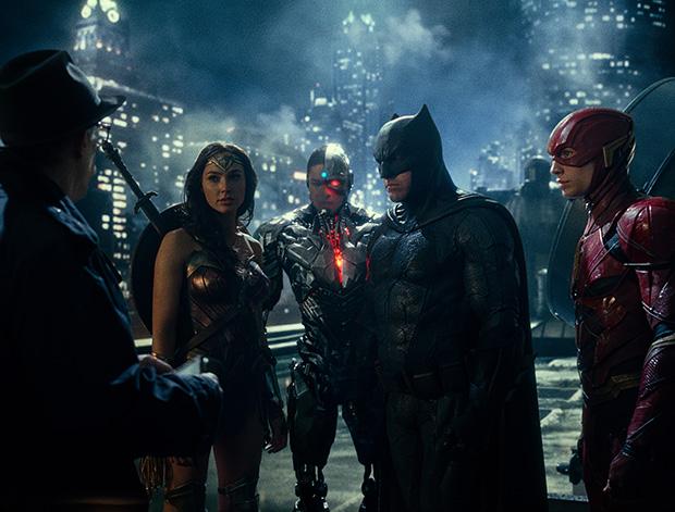 Wonder woman, Ciborg, Batman, Flash