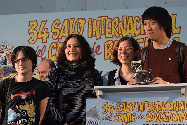 María Ponce, Núria Tamarit, Anabel Colazo y Luis Yang