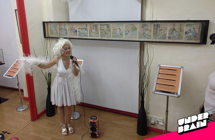 Claudia de la Torre como Marilyn Monroe