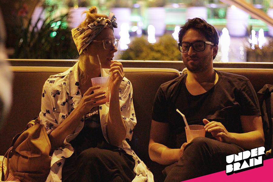 @franzineee disfrutando en la fiesta de Vice Festivales