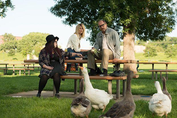 Isabella Amara, Laura Dern y Woody Harrelson en Wilson
